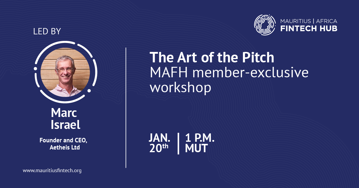 art of the pitch mafh workshop