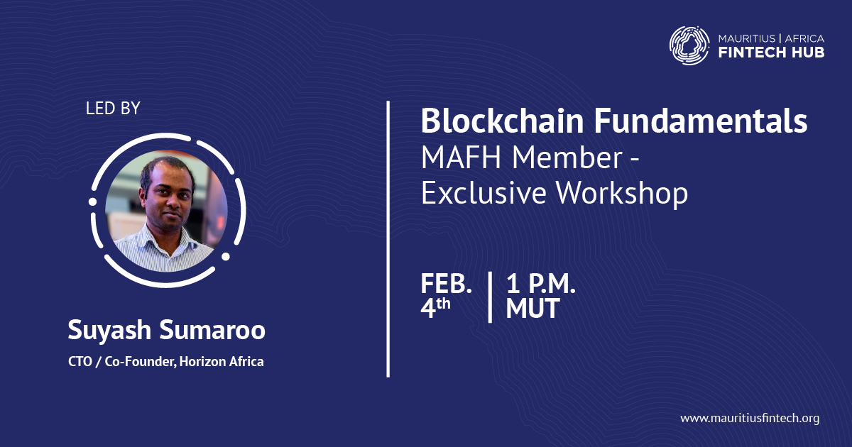 blockchain fundamentals workshop mafh suyash sumaroo